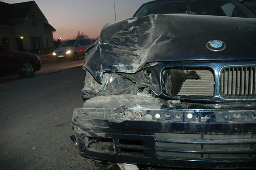 Sudaužytas BMW