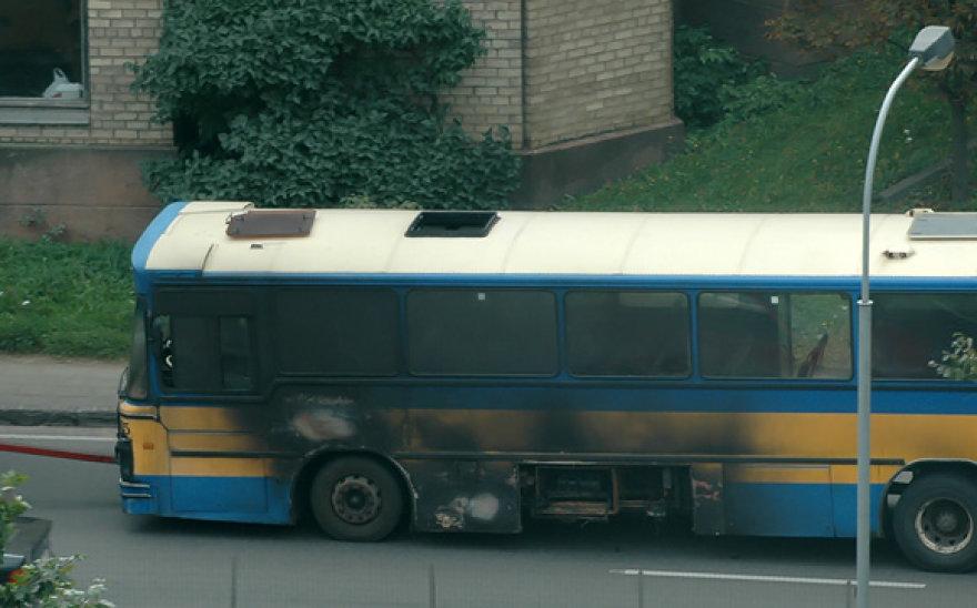 Vilniuje degė autobusas