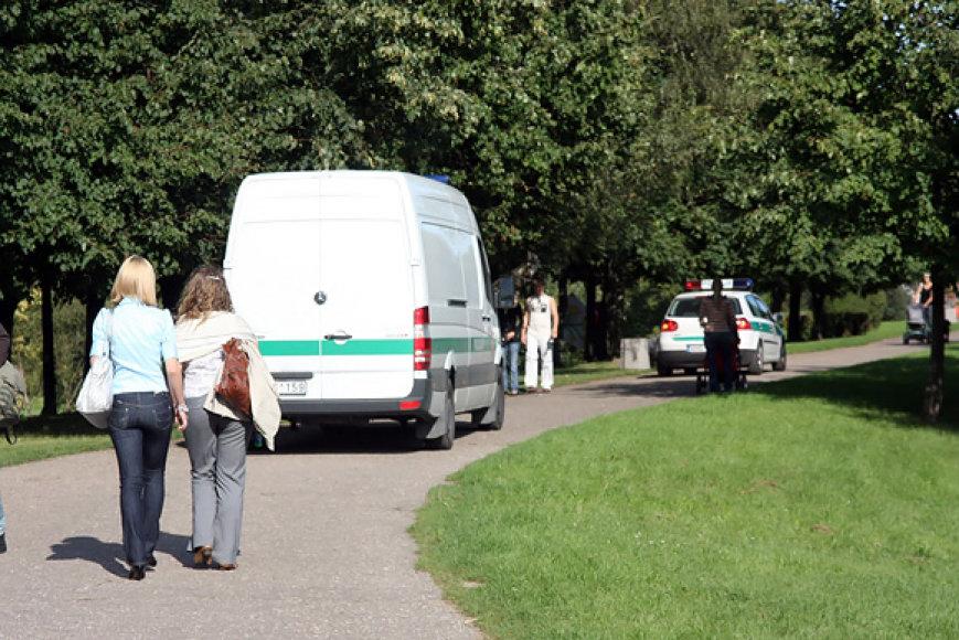 Policijos reidas miesto parke