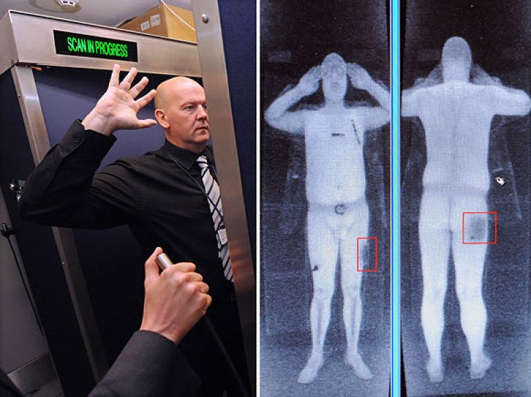 Naujasis skeneris žmogaus kūną rodo be drabužių