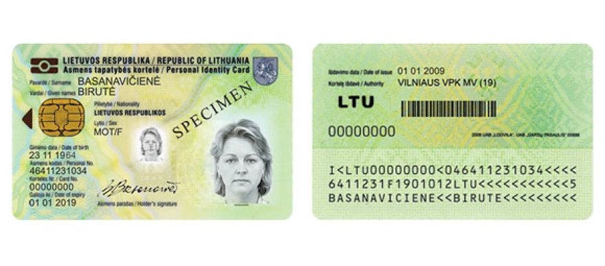 Asmens tapatybės kortelė
