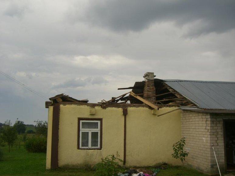 Po audros Prienų rajone