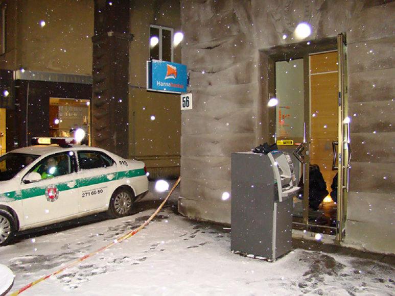 Šį bankomatą Vilniuje bandyta pagrobti metų pradžioje
