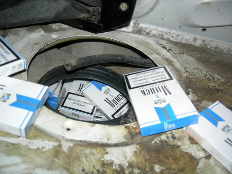 Kontrabandinės cigaretės Medininkuose