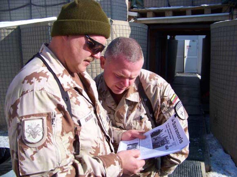 """""""Savanoris"""" skaitomas ir Afganistane – Provincijos atkūrimo grupėje."""