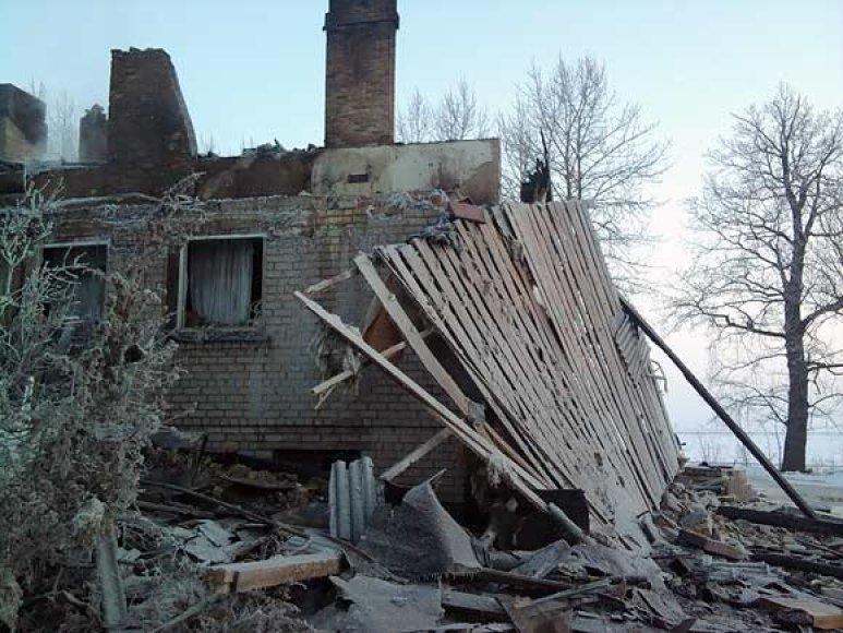 Namas po gaisro