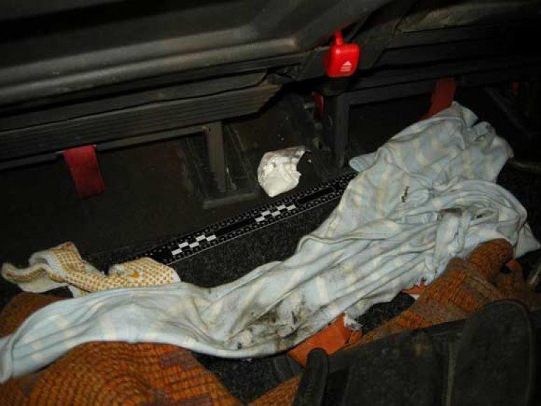 Sulaikyto automobilio vidus