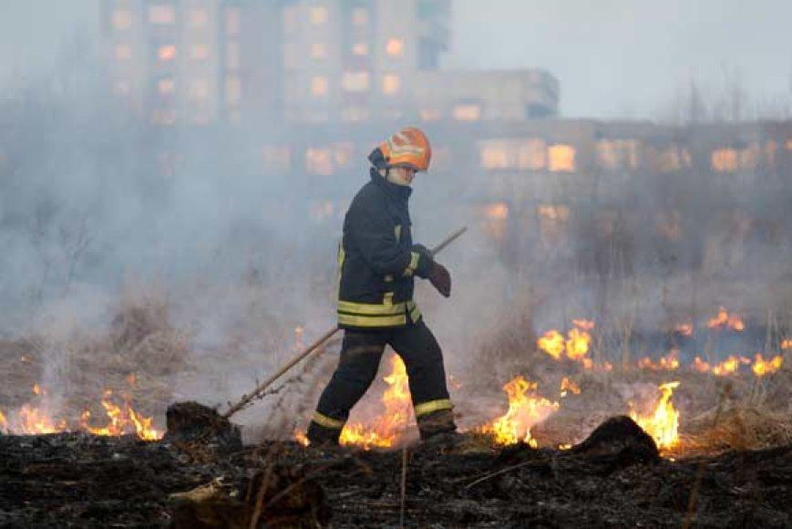 Trečiadienį žolė degė prie pat Vilniaus gyvenamųjų kvartalų