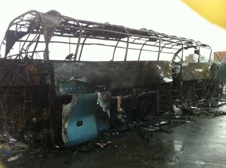 Londone sudegęs autobusas
