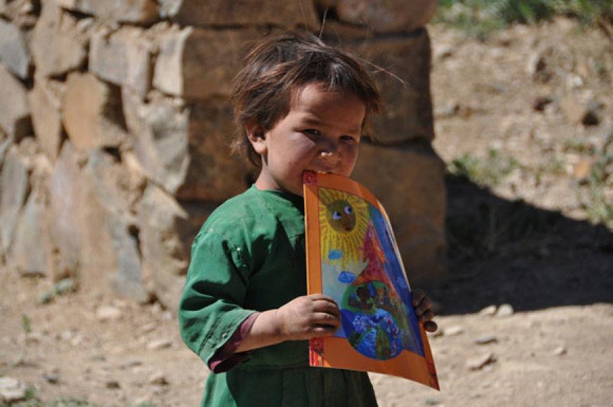 Afganų mergaitė
