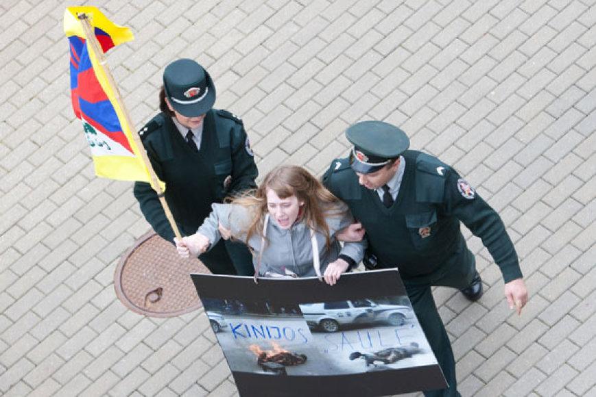 Tibeto rėmėjų sulaikymas