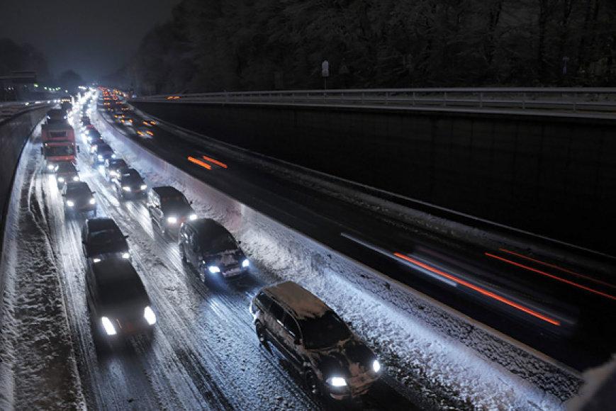 Taip šiomis dienomis atrodo Vokietijos greitkeliai