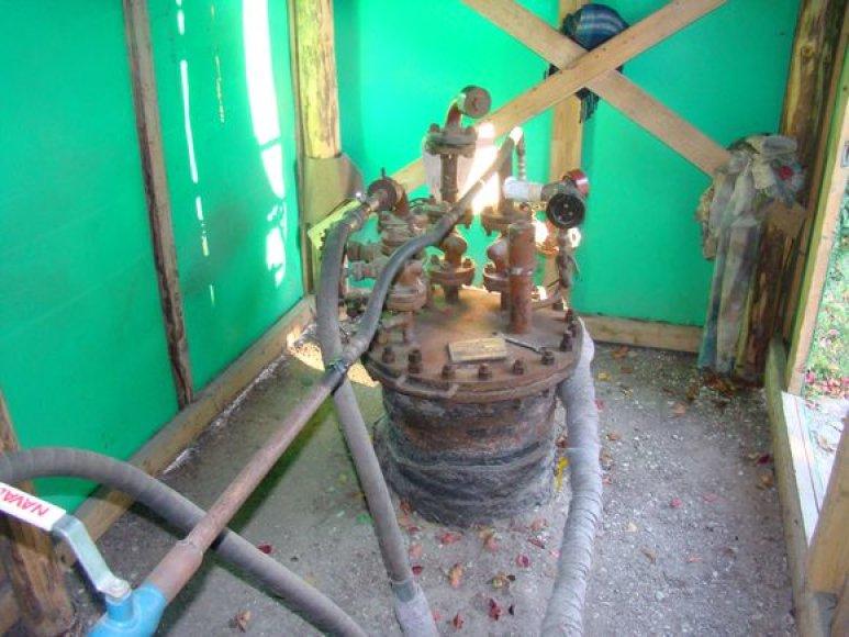 Direktoriaus kieme – nelegali suskystintų dujų degalinė.
