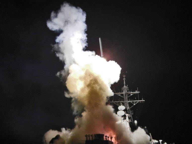 JAV pajėgos atakavo Libijos laivus.