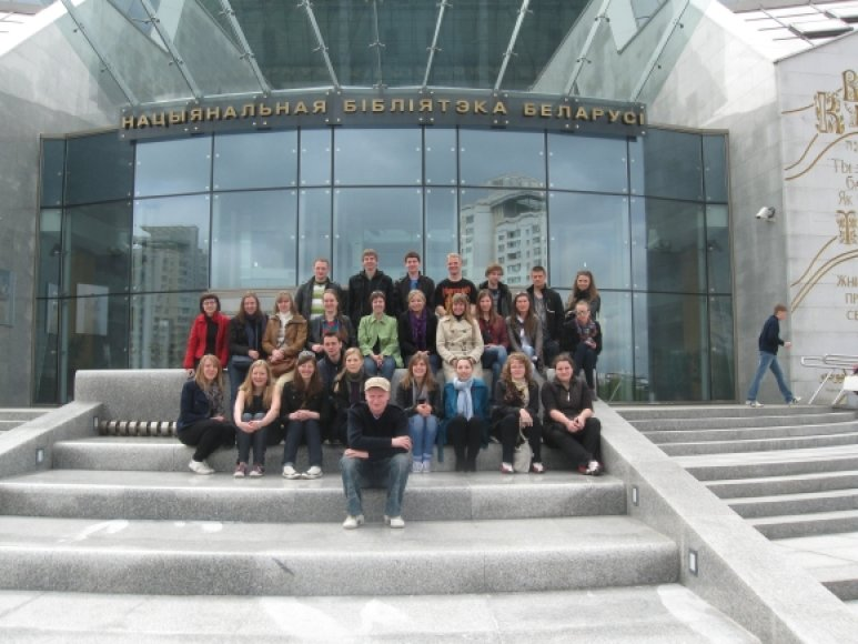 Užsienio lietuvių kilmės studentai ieškojo protėvių kelių Baltarusijos teritorijoje.