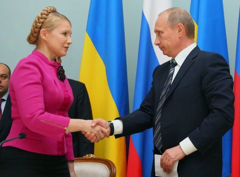 Julija Tymošenko ir Vladimiras Putinas