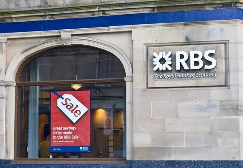 """Royal Bank of Scotland"" per metus prarado 41 mlrd. JAV dolerių."