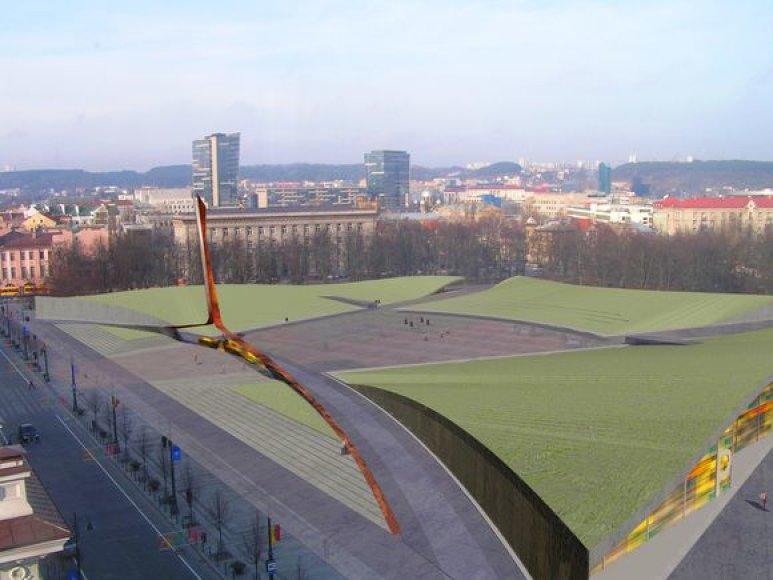 Iki pirmadienio buvo tobulinami 7 Lukiškių aikštės sutvarkymo projektai. Dabar jų likimą spręs vertinimo komisija.