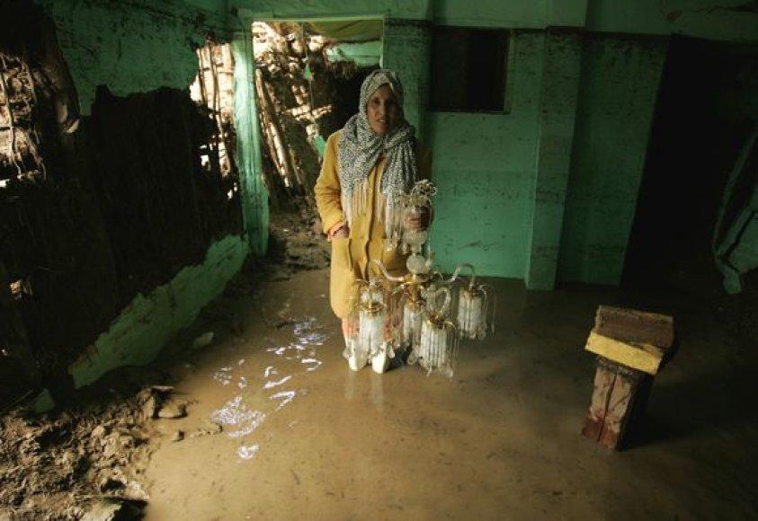 Potvynio užtvindyti namai