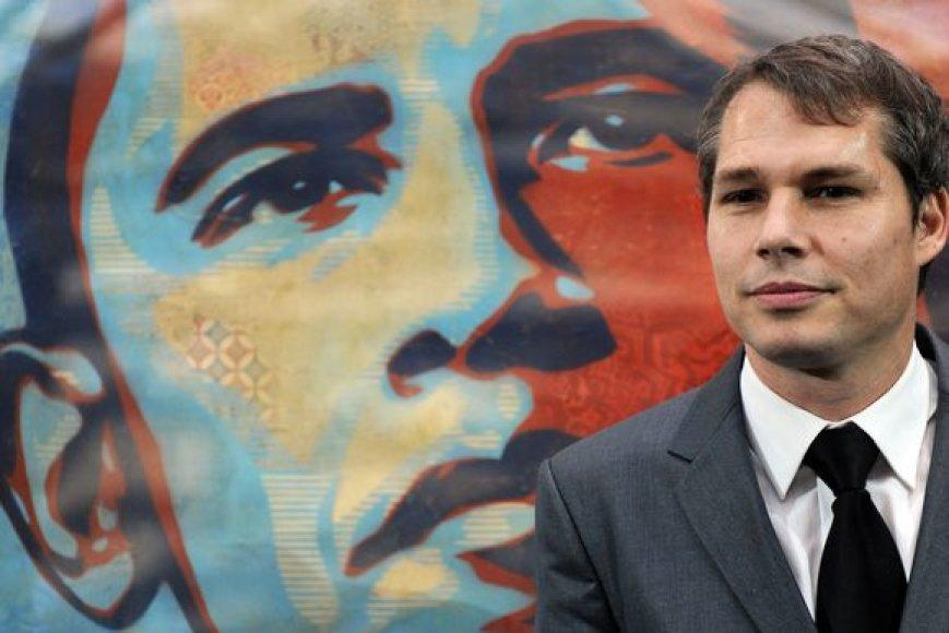 Shepardas Fairey prie Baracko Obamos portreto