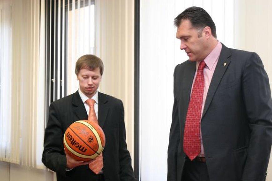 Andrius Kupčinskas ir Arvydas Sabonis