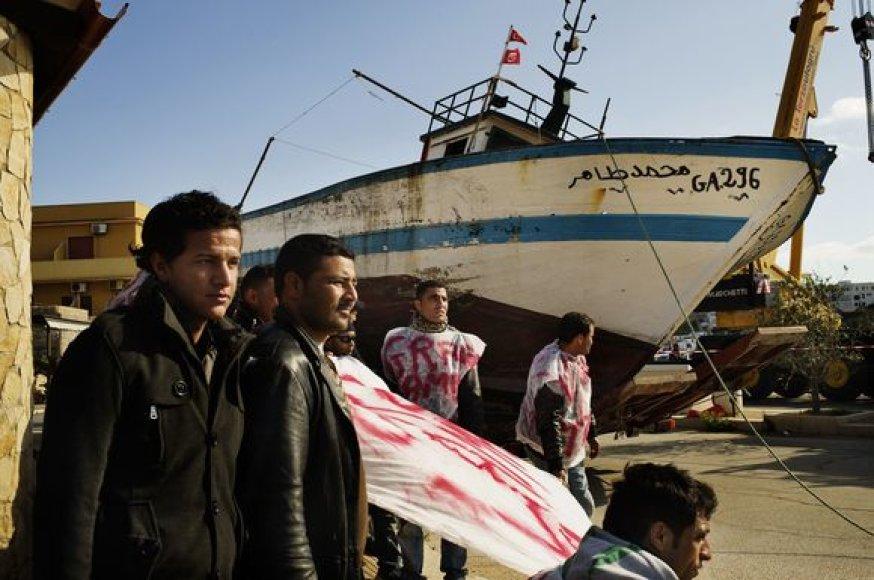 Pastaruoju metu į Italiją plūsta pabėgėliai iš Šiaurės Afrikos.