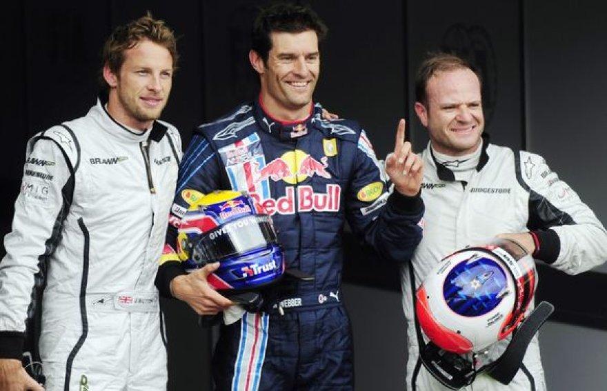 Jensonas Buttonas, Markas Webberis ir Rubensas Barrichello