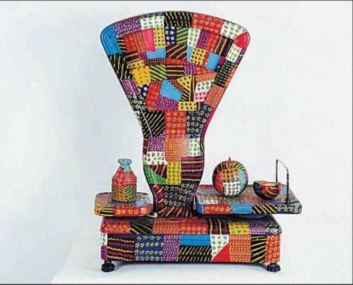 Sovietmečio laikų svarstykles V.Stasiūnas pavertė meno kūriniu.