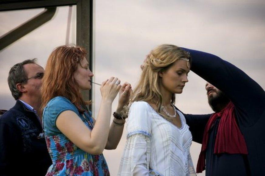 Jurgita Jurkutė filmuojasi itališkame filme.