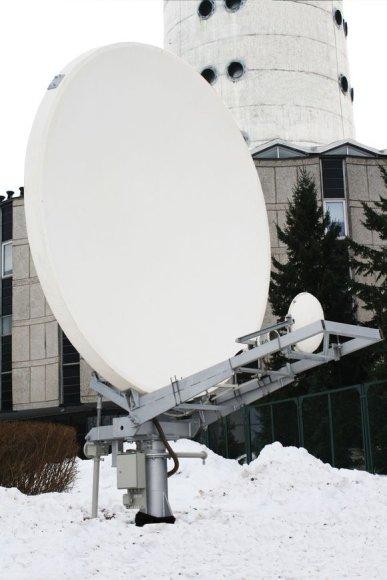 """Istorinė palydovinio ryšio antena """"Nera"""""""