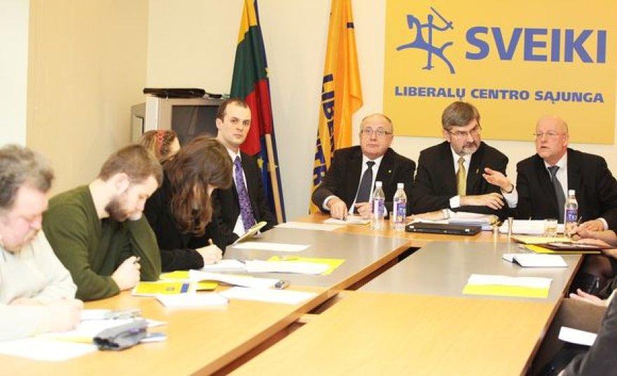 Liberalų ir centro sąjungos partijos spaudos konferencija sausio 18 d.