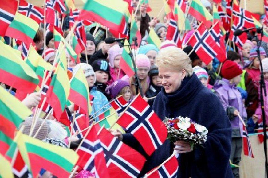 Dalia Grybauskaitė lankosi Norvegijoje