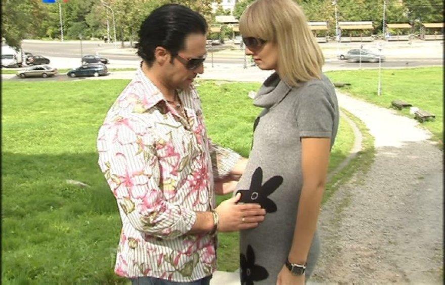 Andrius Kandelis su žmona Milda
