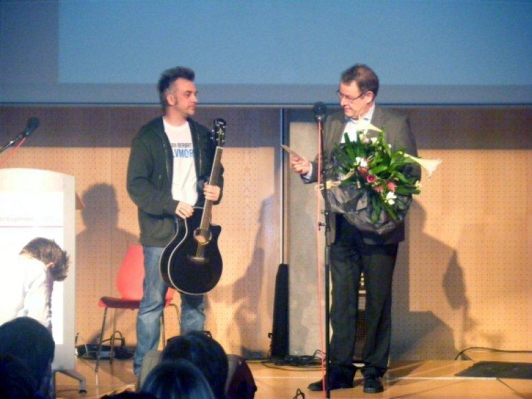 Andrius Mamontovas ir  Poulas Nyrupas Rasmussenas