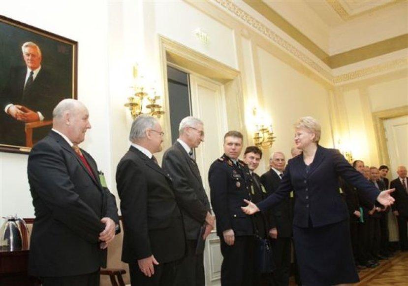 Prezidentės susitikimas su universitetų rektoriais