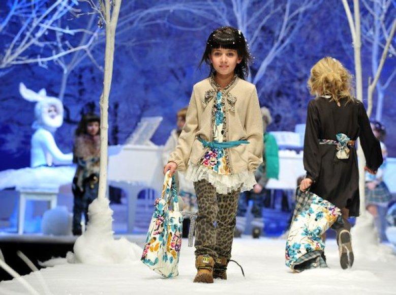 R.Cavalli pristatė žiemos drabužių kolekciją vaikams.