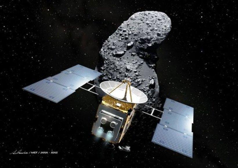 Japonijos mokslininkų kosminis zondas sėkmingai nusileido Australijoje.