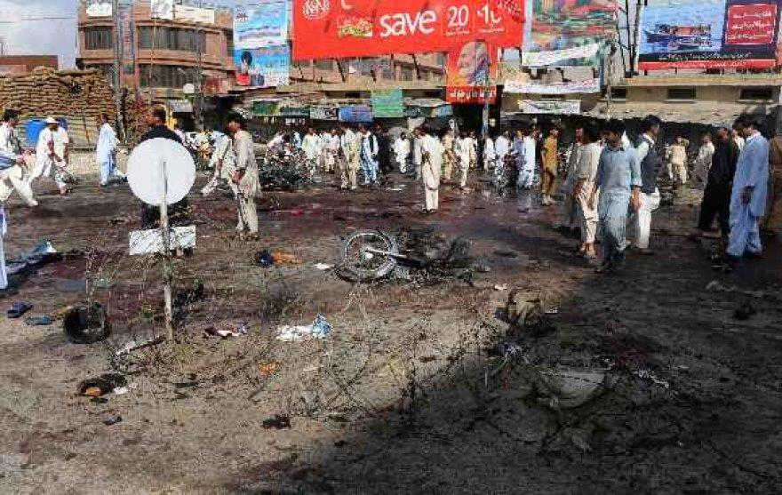 Išpuolio vieta Pakistane