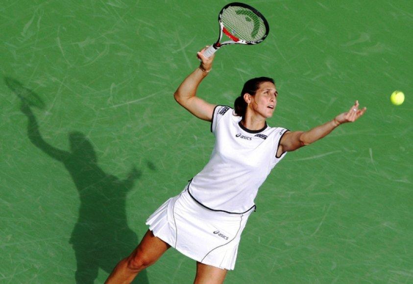 Prancūzijos tenisininkė Virginia Razzano