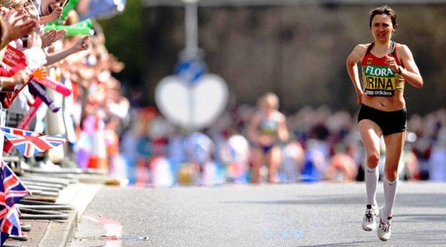 Finišuoja maratono nugalėtoja Irina Mikitenko