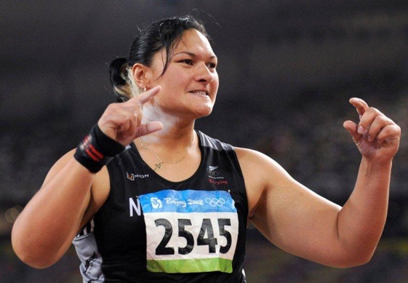 Olimpinė čempionė rutulio stūmime Valerie Vili