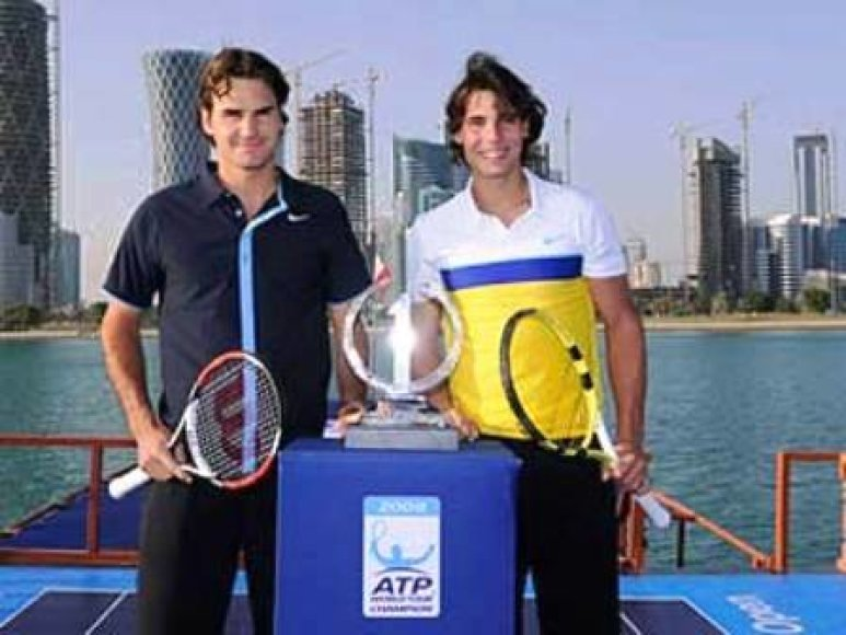 Tenisininkiai laivo denyje
