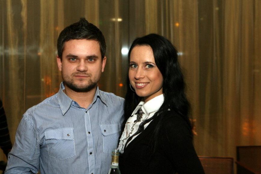 Žurnalistas Edvardas Žičkus su Ingrida Kazlauskaite