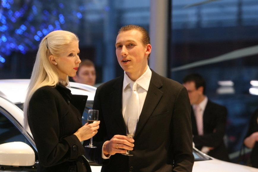 Inga Paksaitė-Stumbrienė su vyru Aivaru