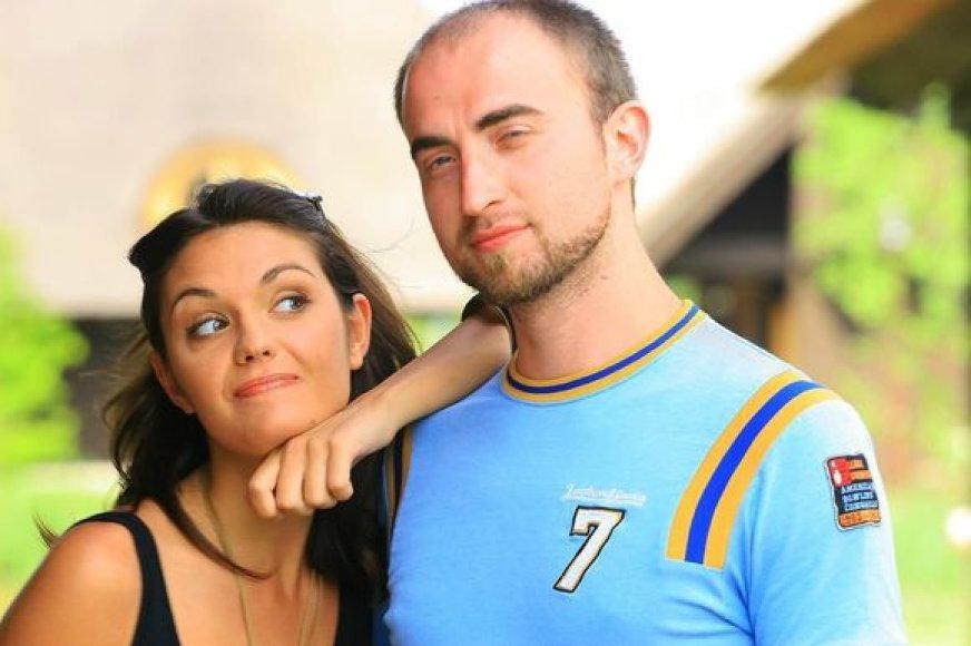 Aktorė Goda Andriunaitė (Dina) ir Tomas Kliukas (Vaidotas)
