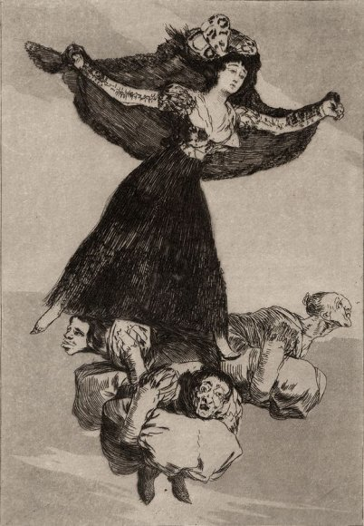 "F.Goya paveikslas ""Nuskrido. 1806-1807"""