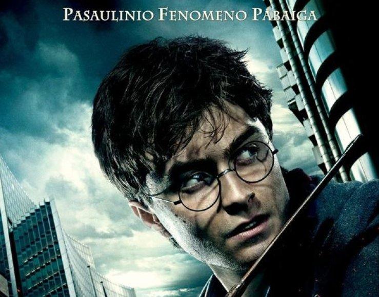 """Filmo """"Haris Poteris ir Mirties relikvijos"""" pirma dalis"""