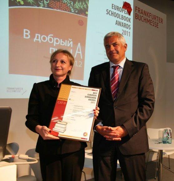 """Leidyklos """"Šviesa"""" vadovėlis Frankfurto knygų mugėje gavo bronzos apdovanojimą"""