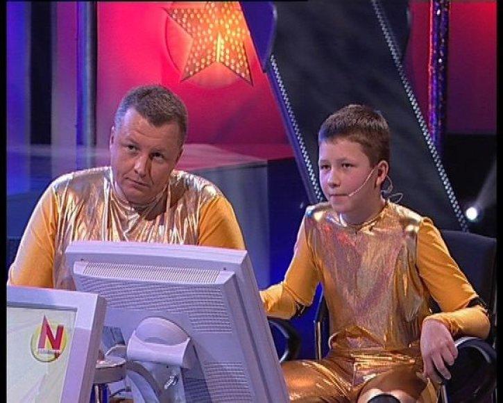 Gediminas Juodeika su sūnumi Mykolu