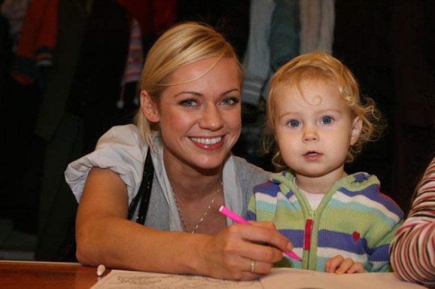 Ingrida Martinkėnaitė su dukra Marija